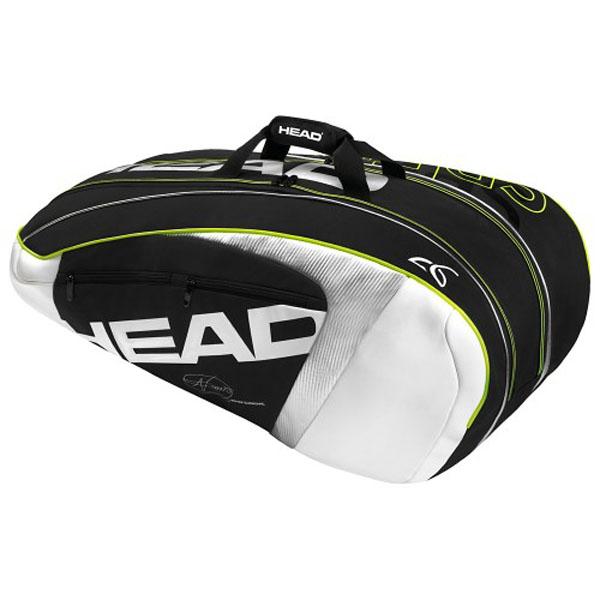 dacdb00821 Head Djokovic Supercombi 9 Tennis Bag 283905 - The Tennis Shop