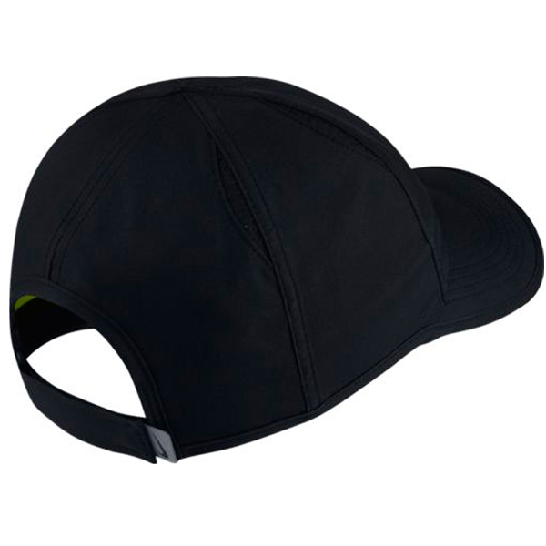 Nike Feather Light Perforated Hat Black Volt 840455-010 - The Tennis ... 16f2000bce8