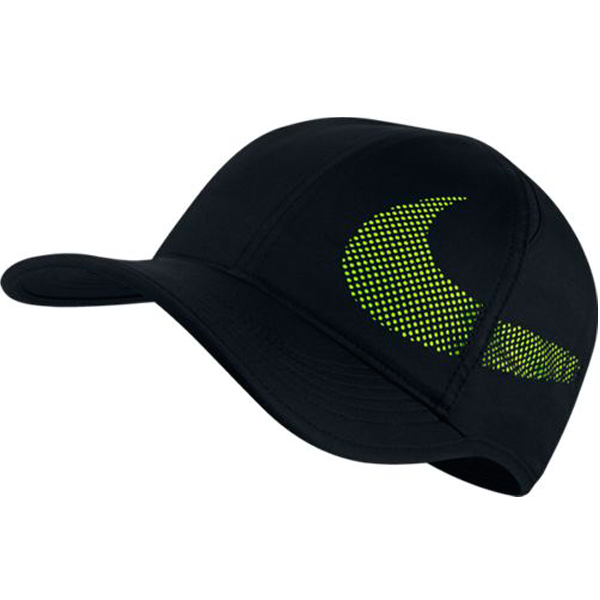 a3aca2e59b3 Nike Feather Light Perforated Hat Black Volt 840455-010 - The Tennis ...