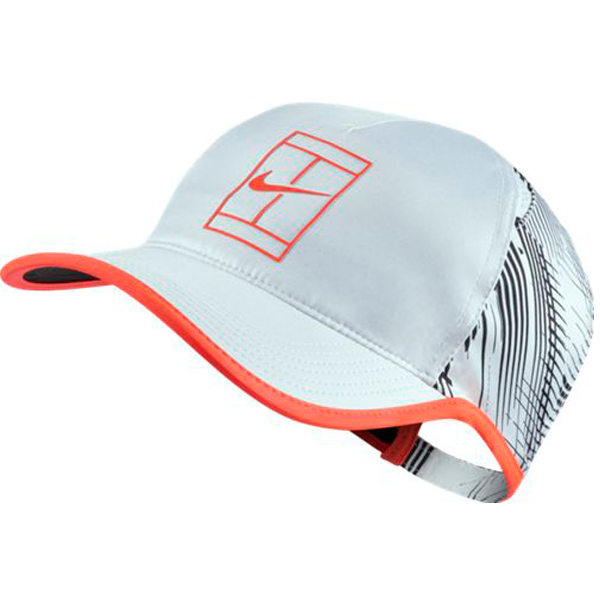 Nike Men s Court Aerobill Tennis Hat White Black Hyper Orange 864106-100.     a5894fe7085