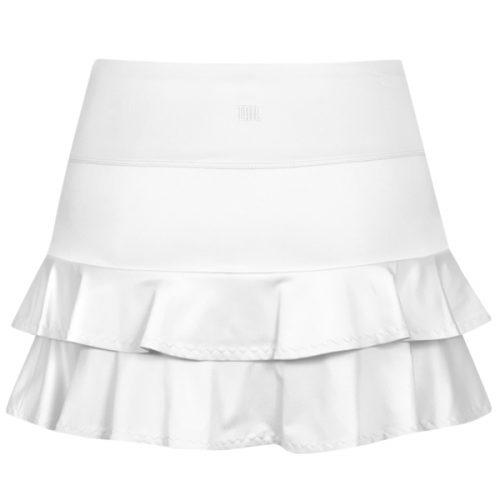 d3fa21f05fe2f Nike Women s Pure 3 4 Sleeve Top White Black 728791-100 - The Tennis ...