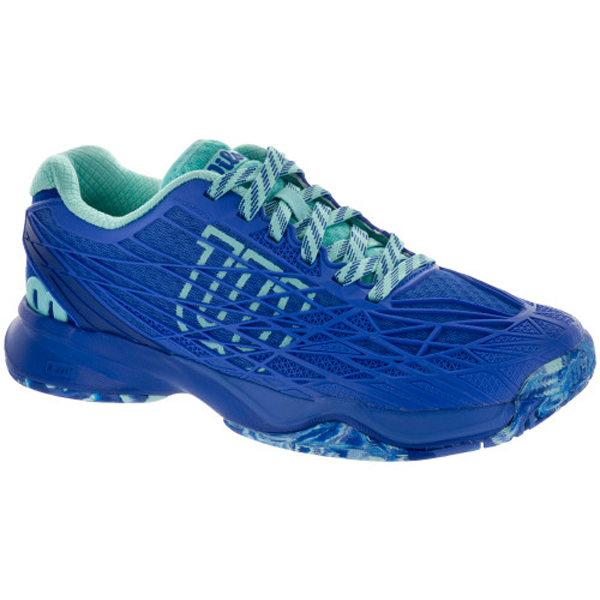 Tennis Racquet Sale >> Wilson KAOS Women's Tennis Shoe Amparo Blue/Surf the Web ...