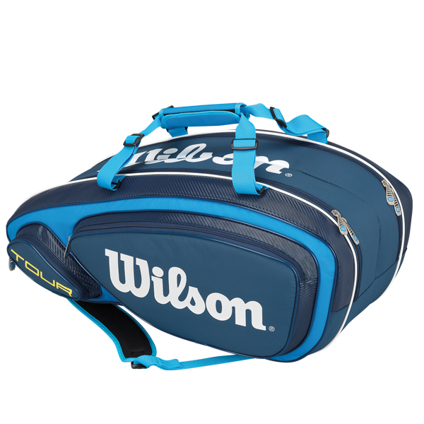 Wilson Tour V Blue 9 Pack Tennis Bag Wrz843609