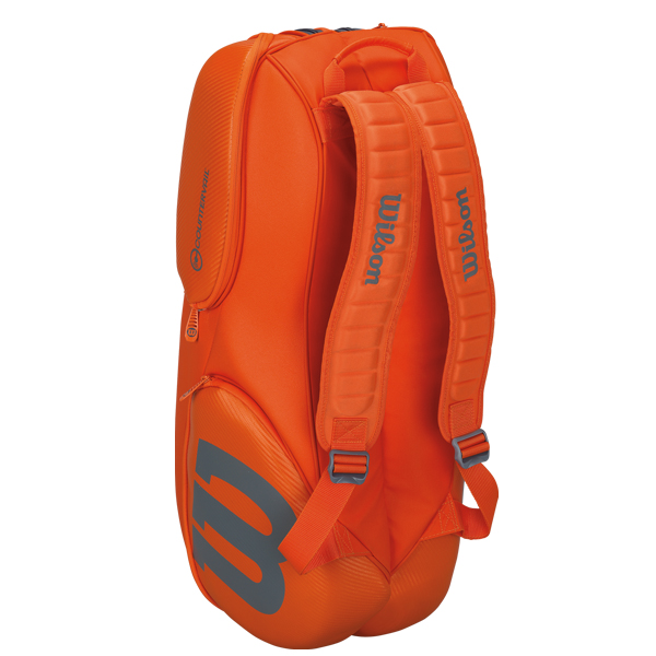 Head Tennis Bag >> Wilson Burn 9 Pack Tennis Bag Orange/Grey WRZ849709 - The Tennis Shop